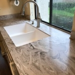 "Corian Smoke Drift Prima Top with Corian 9412 sink. • <a style=""font-size:0.8em;"" href=""http://www.flickr.com/photos/134090146@N08/32045946687/"" target=""_blank"">View on Flickr</a>"