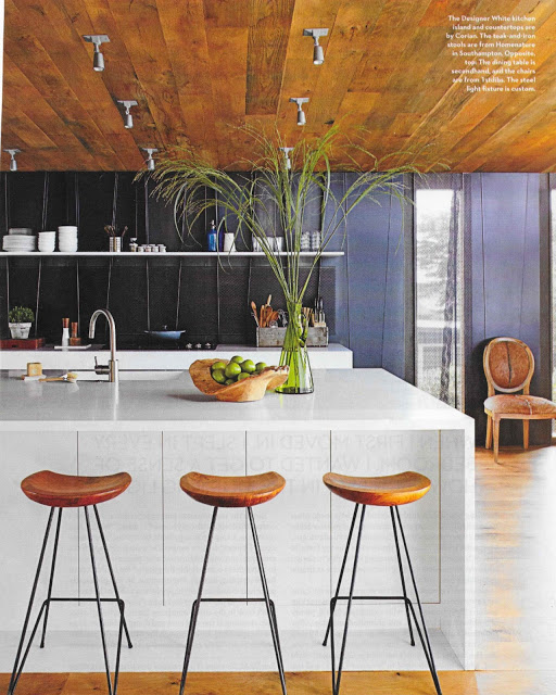Old School-Solid White Corian Goes Industrial Hippie